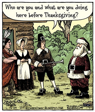 Thanksgiving, Pilgrims and Santa Claus.jpg