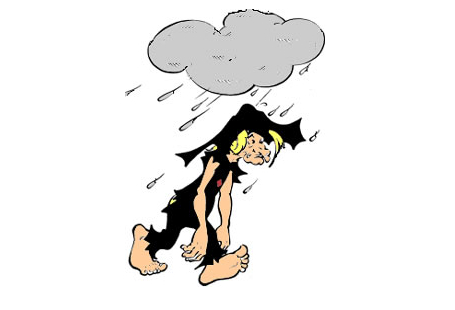 Joe Btfsplk, Al Capp's character with a black cloud over his head always raining misfortune on him